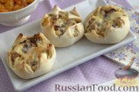 Фото к рецепту: Пирожные «Лотосы» с творогом и сухофруктами