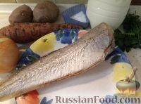 Фото приготовления рецепта: Треска, запеченная с картофелем и овощами - шаг №1