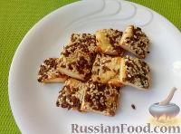 Фото к рецепту: Песочные галеты с кунжутом и семенами льна