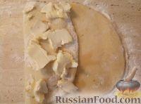 Фото приготовления рецепта: Рогалики из слоено-дрожжевого теста - шаг №5