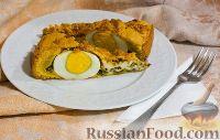 Фото к рецепту: Пирог со шпинатом и яйцами