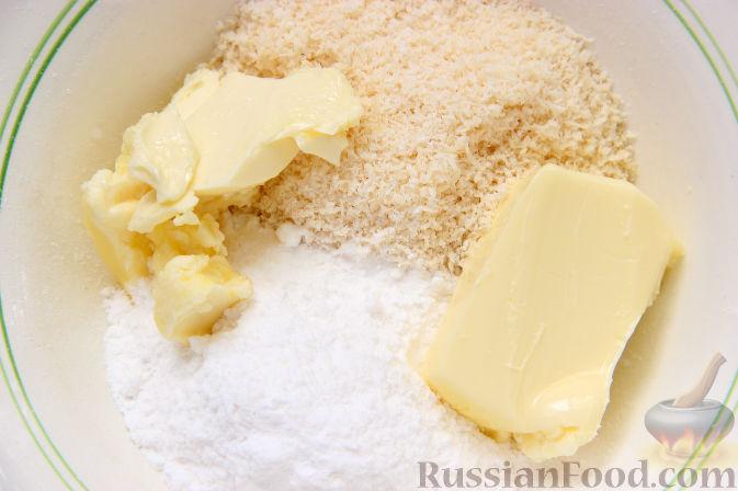 Фото приготовления рецепта: Закусочные хлебные шарики с колбасой и сыром (в духовке) - шаг №8