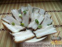 Фото к рецепту: Свиная грудинка, запеченная в фольге
