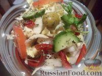 """Фото к рецепту: Овощной салат """"В греческом стиле"""""""