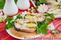 Фото к рецепту: Фаршированная скумбрия с желатином