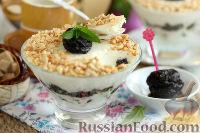 Фото к рецепту: Сметанное желе с медом и черносливом