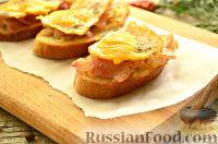 Фото к рецепту: Тосты с беконом и перепелиными яйцами