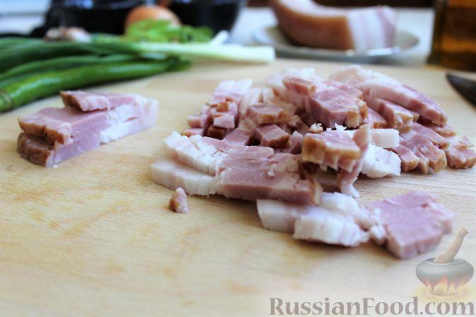 Фото приготовления рецепта: Рассольник с рыбой и рисом - шаг №13