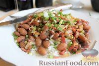 Фото к рецепту: Рис с фасолью и беконом