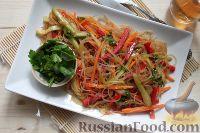 Фото к рецепту: Корейский салат с фунчозой