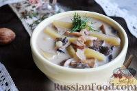 Фото к рецепту: Суп с белыми грибами и сливками