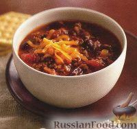 Фото к рецепту: Соус чили из говяжьего фарша, фасоли и томатов