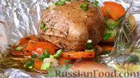Фото к рецепту: Картофель в мундире, запеченный в фольге