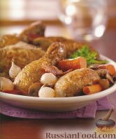 Фото к рецепту: Курица в вине