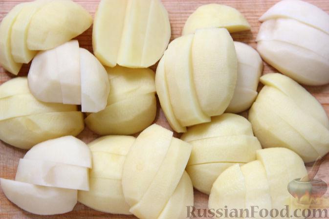 Фото приготовления рецепта: Открытый песочный пирог с бананами в яично-сметанной заливке - шаг №9