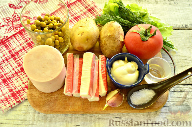Фото приготовления рецепта: Крабовый салат с ветчиной - шаг №1