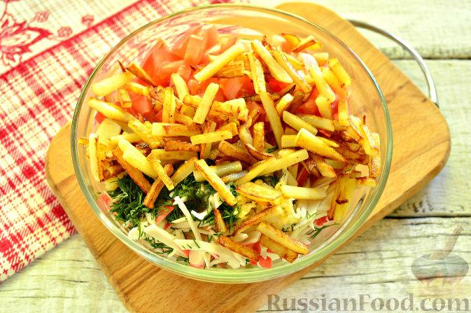 картофель с ветчиной салат рецепт