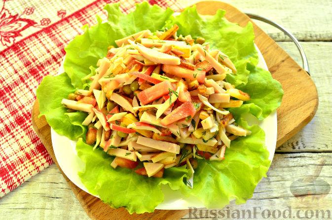 Фото приготовления рецепта: Крабовый салат с ветчиной - шаг №11