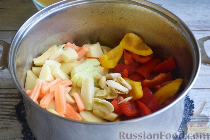 Фото приготовления рецепта: Лагман из баранины - шаг №9