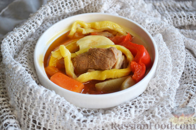 Фото приготовления рецепта: Лагман из баранины - шаг №19