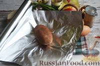 Фото приготовления рецепта: Канапе с салатом «Мимоза» - шаг №2