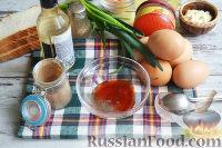 Фото приготовления рецепта: Канапе с салатом «Мимоза» - шаг №4