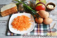 Фото приготовления рецепта: Канапе с салатом «Мимоза» - шаг №8