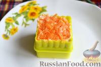Фото приготовления рецепта: Канапе с салатом «Мимоза» - шаг №19