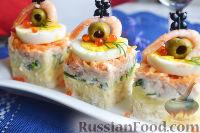 Фото приготовления рецепта: Канапе с салатом «Мимоза» - шаг №21
