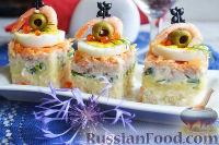 Фото приготовления рецепта: Канапе с салатом «Мимоза» - шаг №22