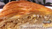Фото к рецепту: Капустный пирог с яйцами