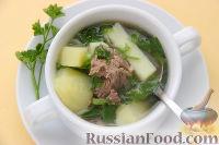 Фото к рецепту: Суп бухлер с бараниной