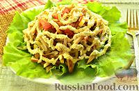 Фото к рецепту: Крабовый салат с ветчиной