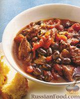 Фото к рецепту: Рагу из говядины с фасолью