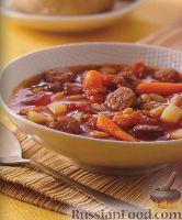 Фото к рецепту: Похлебка с колбасой и овощами