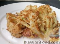 Фото к рецепту: Цветная капуста жаренная в сухарях