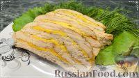 Фото к рецепту: Ленивый рулет из курицы с сыром