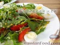 Фото к рецепту: Салат из рукколы, с идеальной заправкой
