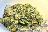 Фото к рецепту: Японский салат из огурцов