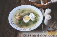 Фото к рецепту: Суп из ревеня и шпината