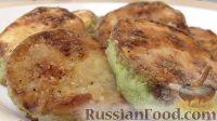 Фото к рецепту: Жареные кабачки, с соусом