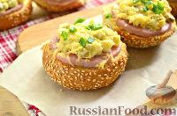 Фото к рецепту: Горячие бутерброды с ветчиной