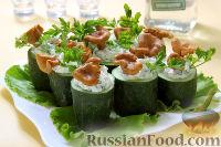 Фото к рецепту: Фаршированные огурцы