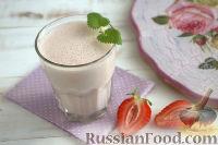 Фото к рецепту: Смузи с клубникой и мятой