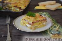 Фото к рецепту: Рокот крумпли (картофель, запеченный слоями)