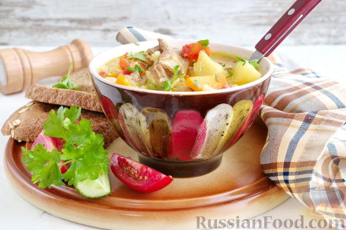 Фото приготовления рецепта: Мастава (узбекский суп) - шаг №9
