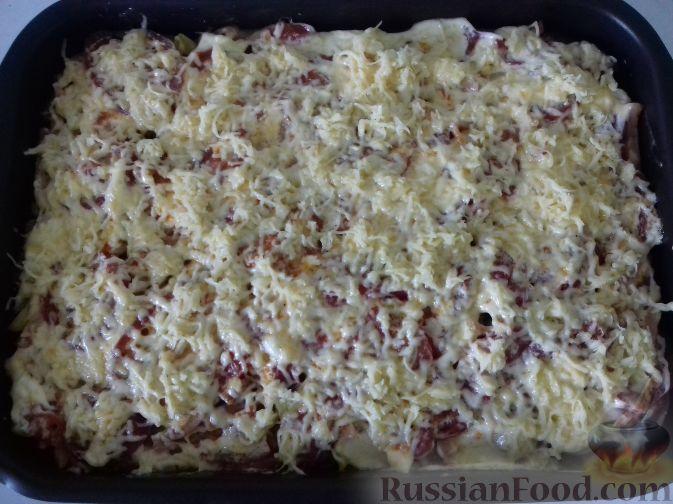 картофель с сыром и ветчиной