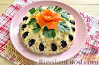 Фото к рецепту: Куриный салат с кукурузой и огурцом