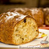 Фото к рецепту: Творожный кекс с изюмом (по ГОСТу)