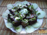 Фото к рецепту: Шашлык из говяжьей печени
